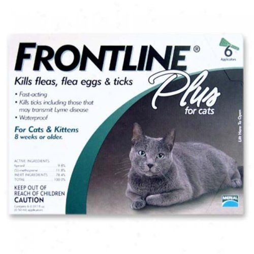 Pet Supplies: Merial Frontline Plus Flea and Tick Control for Cats and Kittens, 6 Doses