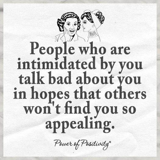 JEALOUS narcissists talk trash about you behind your back like the weak, phony, losers they are so that other people won't find you appealing. #narcissistsarejealoushaters