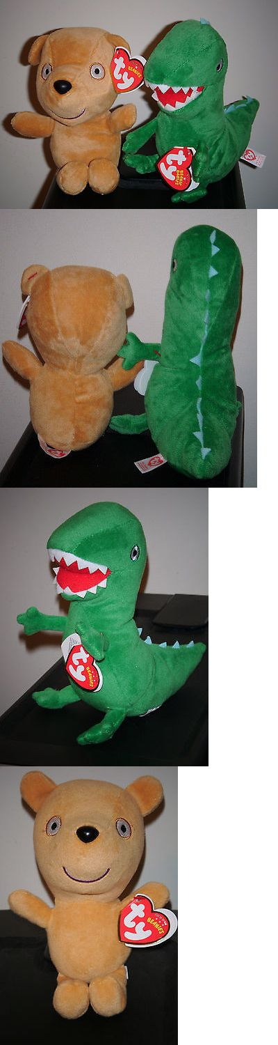 Current 438: Ty Beanie Baby Set~ Mr. Dinosaur And Peppa S Teddy (Uk Peppa Pig Theme Park Excl) -> BUY IT NOW ONLY: $40.9 on eBay!