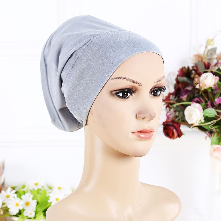 2017 New Arrival Designer Full Cover Inner Muslim Cotton Hijab Cap Islamic Head Wear Hat Underscarf 13 Colors Women Muslims Hat