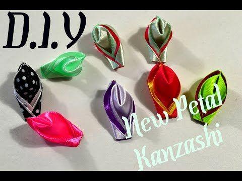 Волшебные цветы канзаши из ленты 2.5 см/Magic Fowers Kanzashi - YouTube