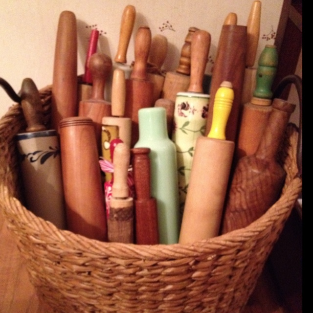 My basket of rolling pins.