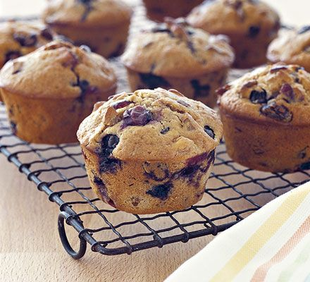 Low cal fruitburst muffins, with Blueberries, cranberries, raisins and apricots. Low fat, Low sugar. Still high carb though.