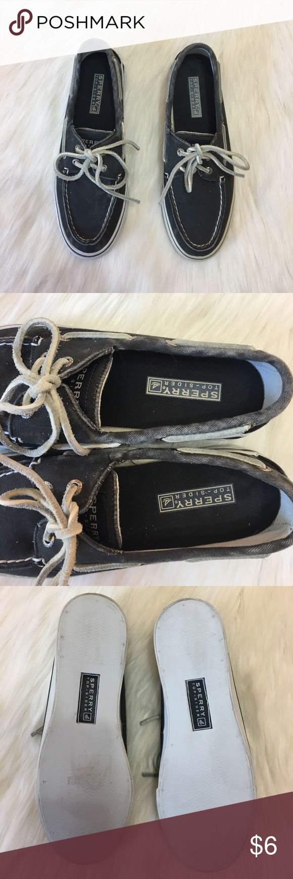 Black Sperrys! Black Sperry Shoes!                                                                    • Size: Women's 6 Medium!                                                      • Happy to answer any ?'s!                                                         • Offers welcome! Sperry Top-Sider Shoes Flats & Loafers