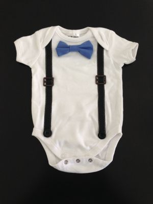 Baby Grandpa Onesie. Suspenders Onesie. $11.50 (FREE shipping within Australia). Handmade. Choice of bow tie colour. Baby formal wear. Find us on Facebook; BoyCot Baby.