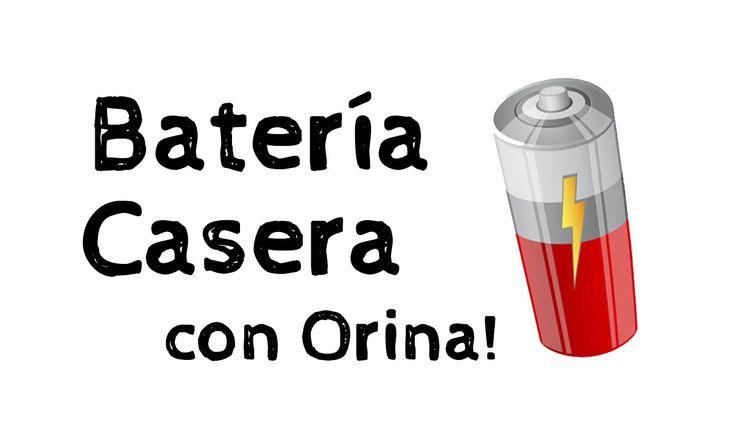 Batería casera hecha con ORINA!