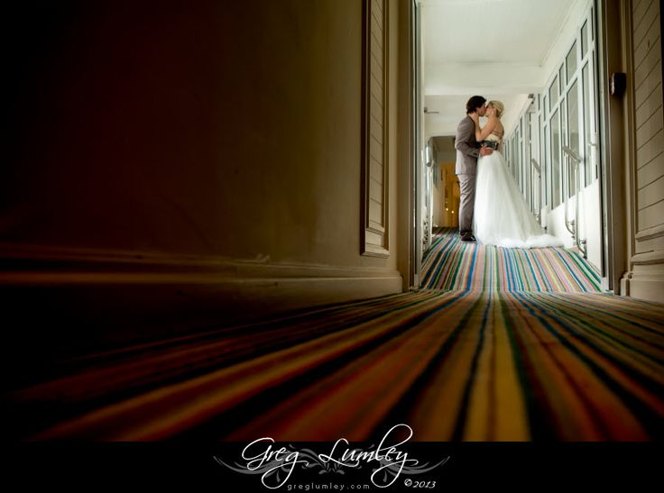 Creative wedding photo taken at the Twelve Apostles Hotel by Greg Lumley.