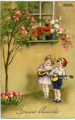 new year 1936 vintage postcard | Flickr - Photo Sharing!