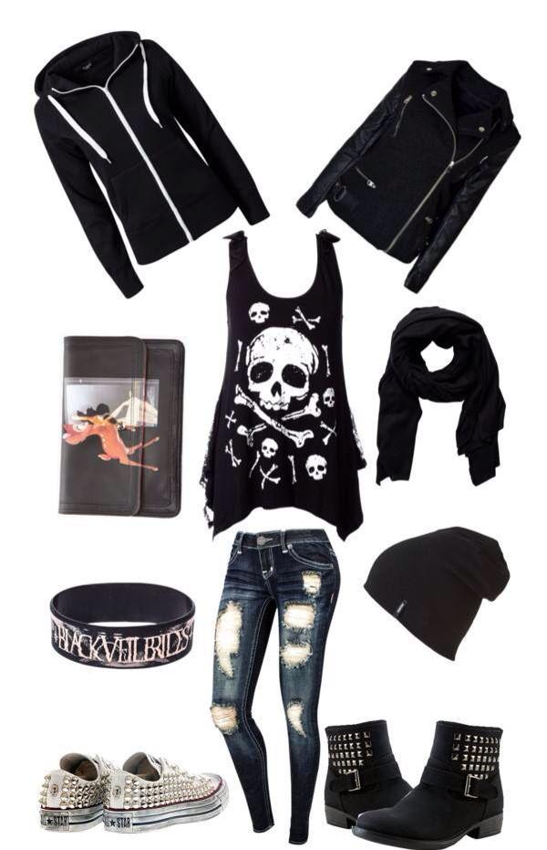 Grunge, black, spikes, studds, skulls,outfit, fashion. Inspiration+by+Krystal+Baptiste.++@bloomdotcom