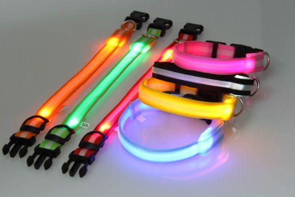 Cheap 7Couleur Réglable Nylon Collier sécurité Chien Chiot Animaux Lumineux LED    1.95e