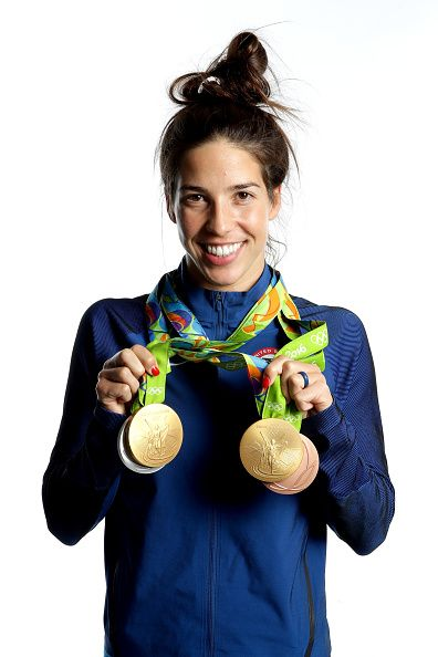 Swimmer Maya DiRado of the United States poses...