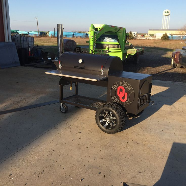 This is a first of its kind out my shop. I was skeptical of what it would look like but I actually like the way it turned out. This started as a version on my backyard smoker and we ended up adding all the bells and whistles. This smoker ended up being around $3300.00 after it was said and done. Here are the details below. 24 x 48 Main Chamber  24 insulated firebox  Oven style door on the firebox  Both racks in the main chamber pull out  14 x 47 stainless steel front shelf  5 chrome stack…