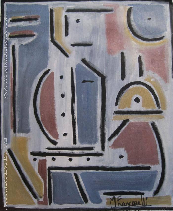 """Mirna Frascarelli """"Figuras"""" Óleo sobre tela 61 X 50 cms. http://www.portondesanpedro.com"""
