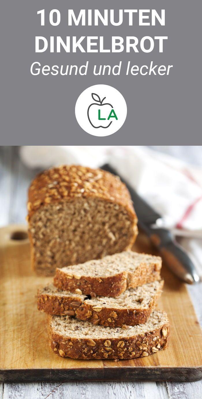 Schnelles Dinkelbrot Rezept - Gesundes Brot einfach selber backen