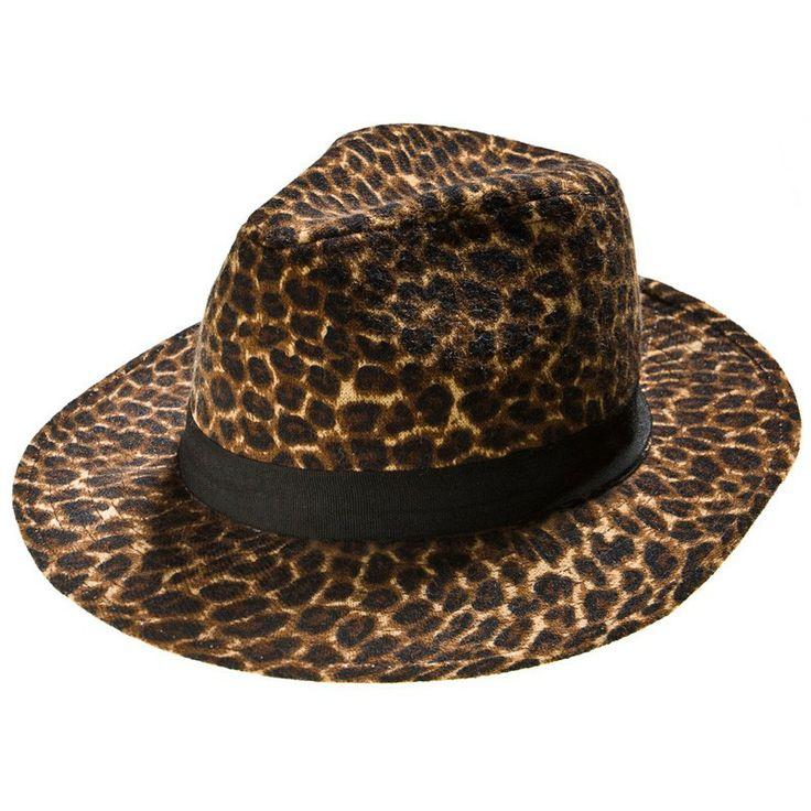 Autumn/Winter 2014 | FULLAHSUGAH ANIMAL PRINT WOOLEN TRILBY HAT | €17.50 | 4302202318 | http://fullahsugah.gr