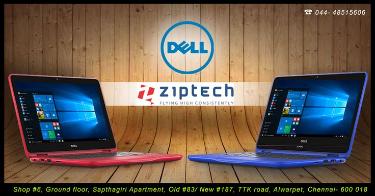 Dell introduces laptops for all people ranging from Students to business peoples with various configurations and categories according to the people all available @ Ziptech Alwarpet Store. Call us for more details @ 044-48515606 .