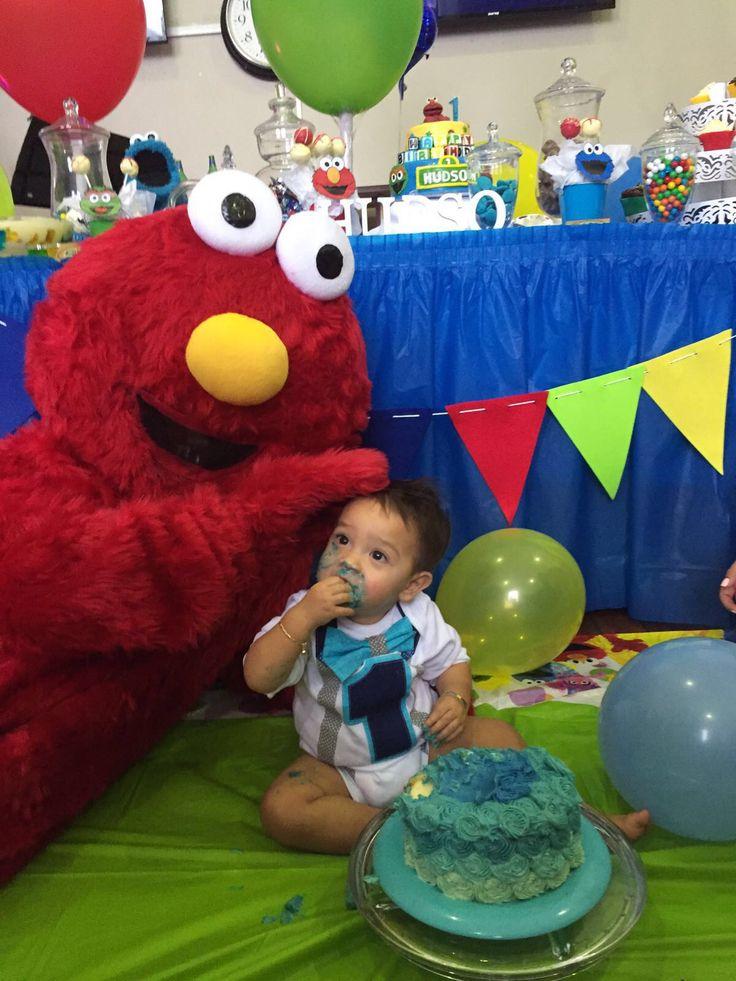 Smash cake with Elmo