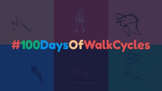 I did a 100DayChallenge and decided to do 100 walk cycles.   Read more about it here: https://medium.com/@justgoscha/100daysofwalkcycles-134ae1ca91ac#.c3so76uio  BUY the full collection of VIDEO, GIF, PNG and source files (PSD/KRITA) here: https://gumroad.com/l/walkcyclepack#