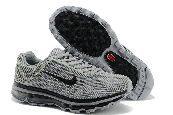 ... Nike Air Max 2011 Mens Running Shoe Leather Black ...
