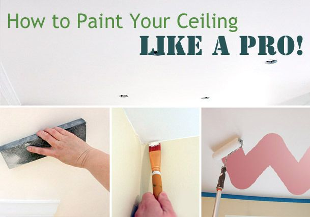 How to Paint Ceilings Like a Pro: DIY Interiors (Don't forget that fifth wall!)