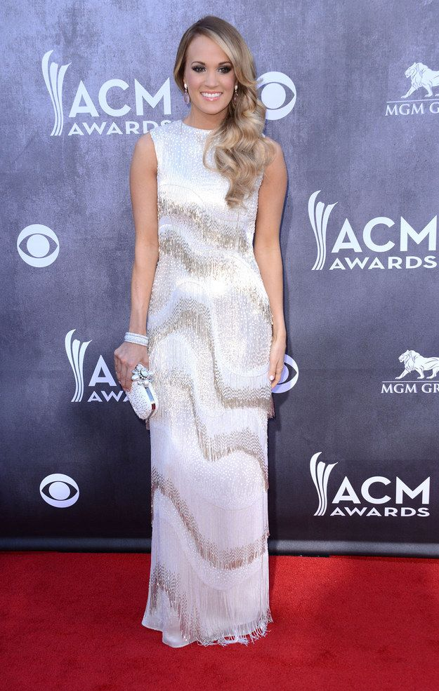 Carrie Underwood At The 2014 Academy Of Country Music Awards