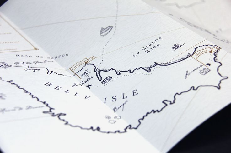Map of Belle-île-en-mer | Designed by Allons-y Alonso