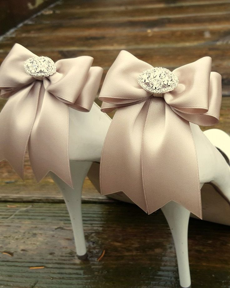 Wedding Shoe Clips,Bridal Shoes Clips, Rhinestone Shoe Clips,Iced Coffee, MANY COLORS, Bow Shoe Clips, Clips for Wedding Shoes, Bridal Shoes by ShoeClipsOnly on Etsy