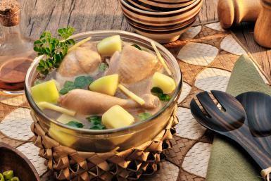 Chicken Tinola (Filipino Gingered Chicken and Green Papaya Soup): Tinolang Manok