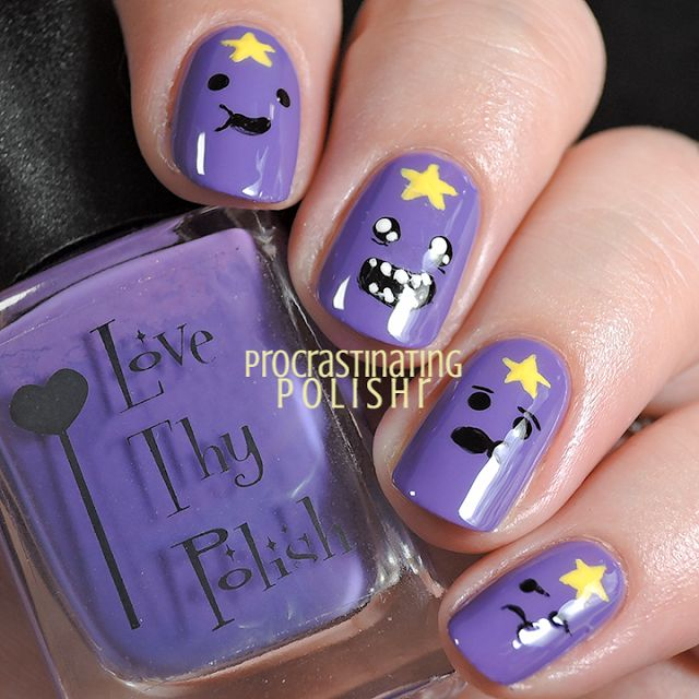 Adventure Time Lumpy Space Princess Nail Art
