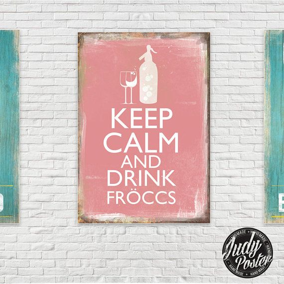 Vintage / Retro Sign Old Style Wall Decor drink by Judydesignstore