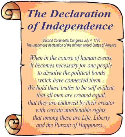 declaration of independence definition