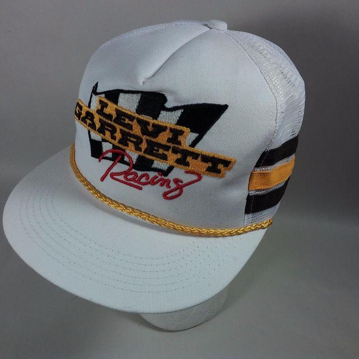 Vintage Snapback Hats >> VINTAGE LEVI GARRETT Racing Logo Trucker Hat Cap Mesh Snapback NASCAR-USA MADE #KProducts # ...