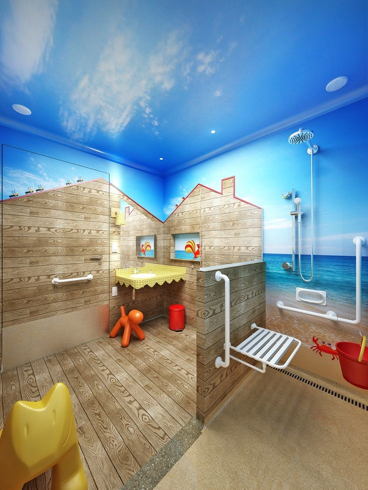 C mo decorar un cuarto de ba o infantil acomp anos - Como decorar un cuarto de bano ...