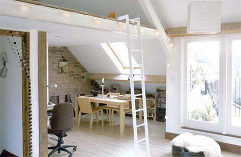 Mezzanine. Ladder is cute.