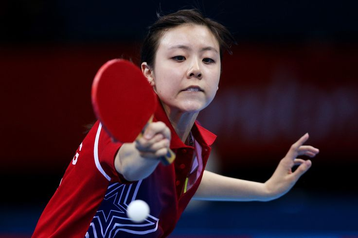 Day 1:  Table Tennis - Women's Singles - Ariel Hsing of USA