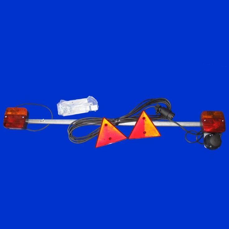 Leuchtenträger Traverse 1150 - 1700mm mit Steckdose u 7m Zuleitung, Kabel