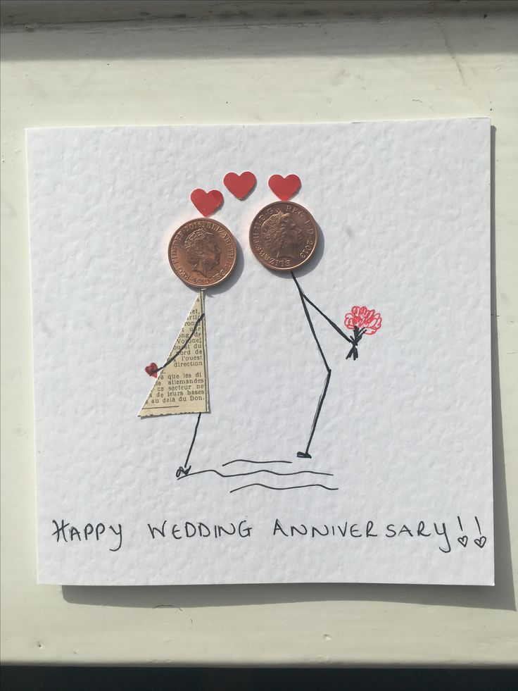 Сделать открытку на годовщину свадьбы своими руками