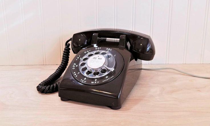 WORKS Vintage Brown Rotary Phone Brown Desk Phone Brown Telephone 1960's Phone Mid Century Phone Retro Phone Brown Phone Mad Men Phone by HipCatRetroVintage on Etsy