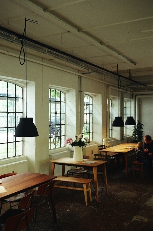 Inspiration: Coffee Collective Copenhagen (love the table and bench for our kitchen!)