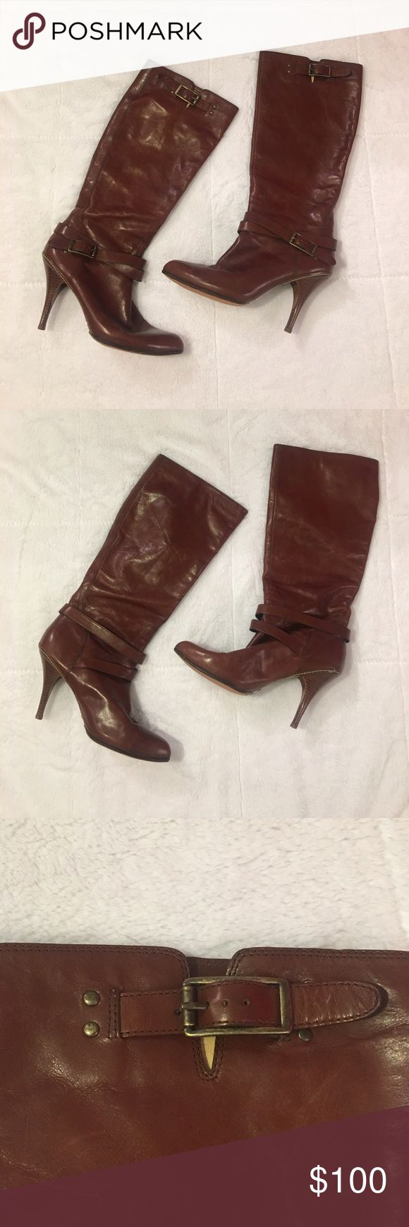 Cole Haan Nike Air Brown Boots 4 Inch Heel Size 9B Cole Haan Nike Air Brown Boots. 4 Inch Heel. Women's Size 9B. Lightly Worn (Twice). Like New Condition. Cole Haan Shoes Heeled Boots