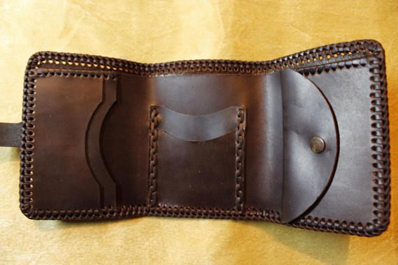 Leather handmade wallet.Authentic leather wallet.Exclusive