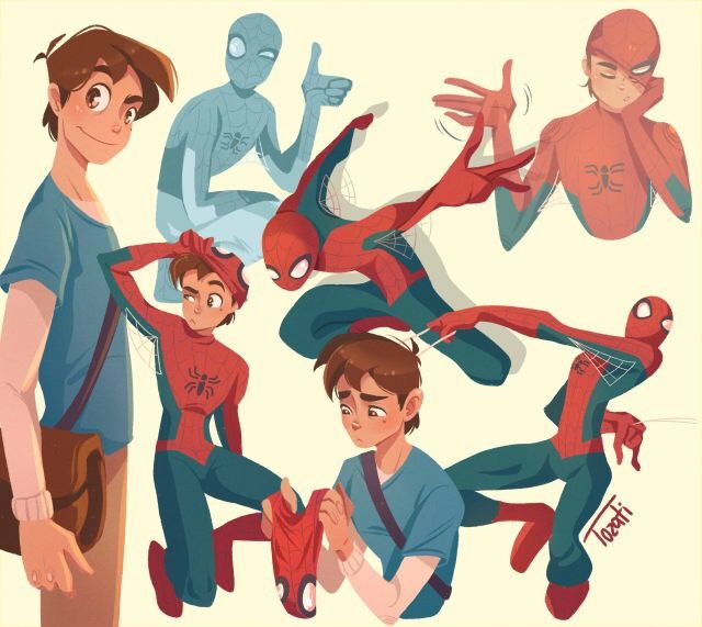 Spidey doodles by @thatniallers