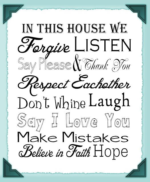 pdf-21 rules of this house printable picture of heart