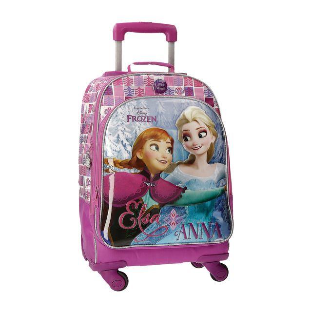 Joumma Bags Trolley 4 Ruedas Frozen El Reino De Hielo Mochilas De Carrito Frozen Mochilas Hermosas