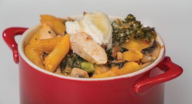 Chicken & Vegetable Pasta Bake | Tony Ferguson Weightloss Program