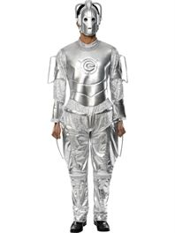 Buy Doctor Who Cyberman Costume, Silver, with Jumpsuit and Mask by Smiffys for £46.79 from Funky Fever Fancy Dress - Standard With Sizes - Costumes Male Licensed