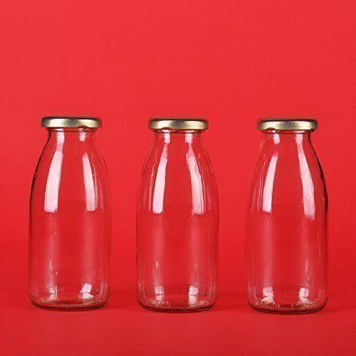 12 leere kleine Glasflaschen 200ml Saftflaschen Weithals-Flaschen Einmachglas Essig- Öl Flasche Likörflaschen Schnapsflaschen Essigflaschen Ölflaschen MILCHFLASCHEN 0,2l Liter Deckelfarbe Weiss von SLK GmbH: Amazon.de: Küche & Haushalt