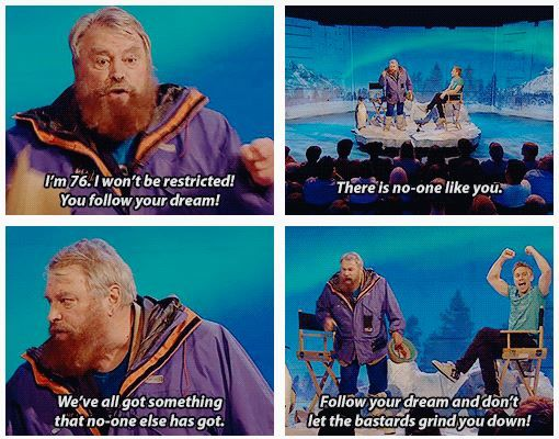 Brian Blessed urges you to follow your dreams. From Russell Howard's Good News.