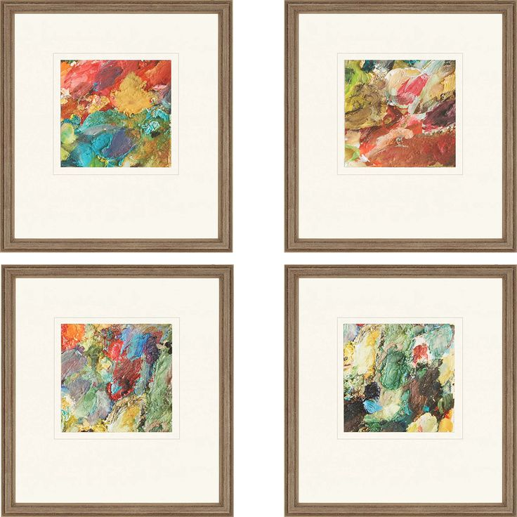 Found it at wayfair palette giclee by sikes 4 piece framed painting prints set
