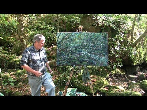 (1857) Large en plein air oil painting of the Sedelle - YouTube
